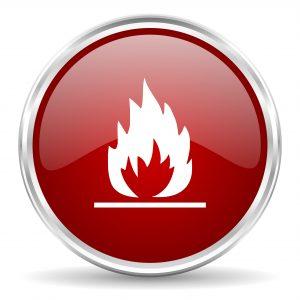 Icone d'alarme de feu